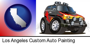 Los Angeles, California - a custom automobile paint job