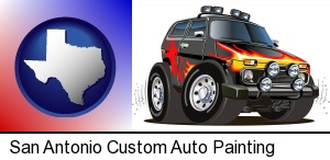 a custom automobile paint job in San Antonio, TX